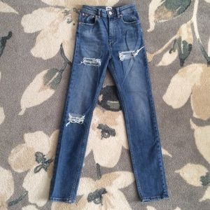 Asos Tall Distressed High Waisted Jeans Size 26